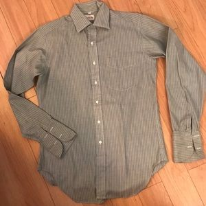 Vintage Stripe French Cuff Shirt, M